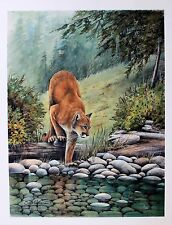 Sue Coleman Hand Signed Numbered Limited Edition Cougar Creek Circa 1990's