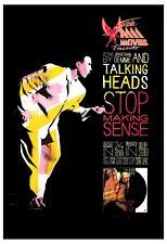 New Wave: Talking Heads *Stop Making Sense * Movie Poster 1984 12x18