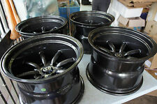 "JDM 15"" GunMetal Staggered wheels 240z watanabe RS banana Z31 s30 ae86 s31 rkr"