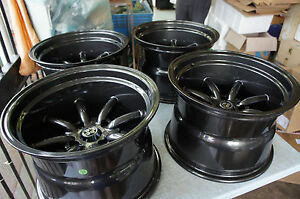 """For Datsun S30 AE86 TA22 240Z S130 JDM 15"""" Staggered banana retro Style wheels"""