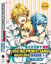 DVD Japan Anime Uta No Prince-Sama Maji Love Season 1-3 (1-39 End) English Sub