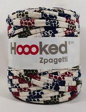 Hoooked `Zpagetti Stoffgarn Natural Mosaik/Weiß,Grün,Blau,Rot Töne` Neu 665