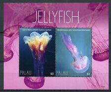 Palau 2017 MNH Jellyfish Lion's Mane Jelly 2v S/S Marine Stamps