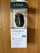 Euc Fitbit Charge Hr Wireless Heart Rate Activity Wristband Black Small Dongle