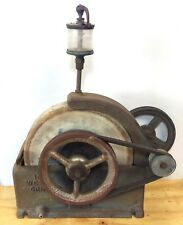 """VINTAGE 10"""" Cast Iron WET GRINDER SHARPENING Tool with top dripper and Pulleys"""