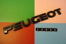 PEUGEOT BLACK PLASTIC REAR BADGE EMBLEM. 232mm x 27mm