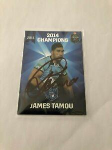 james tamou 2014 champions nsw signed nrl trading card australian kangaroos