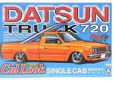 Aoshima 1/24 Nissan Datsun Truck 720 Cal Look Single Cab Short Body Model kit