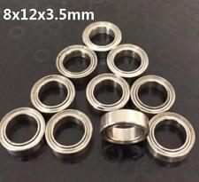 10pcs MR128 8x12x3.5mm Open Miniature Bearings ball Mini Hand Bearing Spinner ~