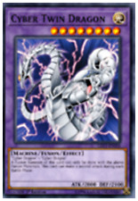 Cyber Twin Dragon LED3-EN018 1st Common YUGIOH