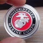 1 Troy Ounce  .999 Fine Silver Bar Round Bullion /  USMC      MMSB180