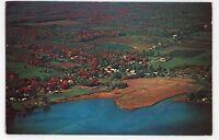 Aerial View BRANCHPORT NY Keuka Lake Yates County Postcard