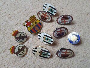 x11 EUROPEAN FOOTBALL BADGES: JUVENTUS/REAL/MILAN/BARCELONA/INTER: SUPERB  LOOK!