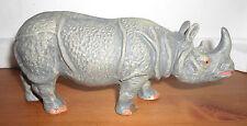 vintage big prewar Lineol Elastolin rhino rhinoceros animal figures light grey