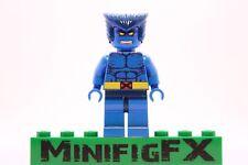 Lego BEAST Custom Machine Printed Minifig Marvel X-Men Mutant Henry Hank McCoy