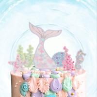 Little Mermaid Tail Custom Birthday Cake Topper Decoration Theme Party Seaworld