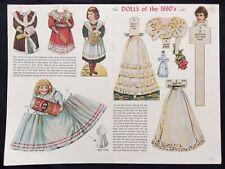 Dolls of the 1890's Paper Dolls, 1958 Jack & Jill Magazine