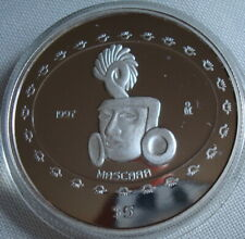 Mexico Rare N$5 Onza Mascara Silver Proof Uncirculated 1997