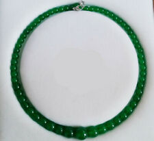 """Beads Necklace Earrings 18"""" Natural!6-14mm Green Emerald Gemstone Round"""