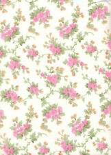 Flower Bouquet (Pink & Orange) FLANNEL Quilt Fabric - 1 1/2 Yard Piece