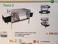 GABBIA PER CONIGLI 2 FATTRICI SOVRAPPONIBILE 163X50X80