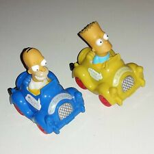 Figuren Homer & Bart Simpson im Auto Fahrzeug  - The Simpsons - Fox ARCO 1990
