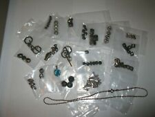 Sterling Silver For Jewelry Making. Beads, Earing Wires, Pendant, Chain Spacers,