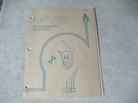 embossed LE MANS ATARI LEMANS  arcade game manual