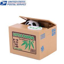 Automat Cute Panda Piggy Bank Money Box Stealing Coin Saving Money Box Gift US