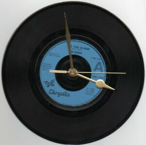 """BLONDIE - THE TIDE IS HIGH 7"""" VINYL RECORD WALL CLOCK"""
