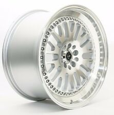 18X9 ROTA FLUSH WHEELS 5X100 SILVER RIMS AGGRESSIVE FITS  SCION TC CELICA