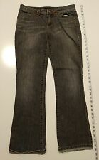 """ELIE TAHARI BOTTOMS GRAY JEANS WITH EMBROIDERED DETAIL WAIST 32"""" INSEAM 29"""""""