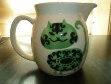 Kaj Franck Arabia Finland Ceramic Green & Black Cat Milk Jug Pitcher