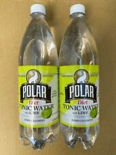 Polar Beverages Tonic Water with Lime DIET, 33.8 Ounces With Quinine (Pack of 2)