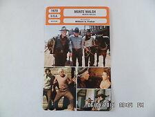 CARTE FICHE CINEMA 1970 MONTE WALSH Lee Marvin Jeanne Moreau Jack Palance M.Ryan