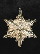 Gorham 1972 Christmas Ornament Sterling Silver Snowflake with Box