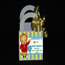 12 DANIEL TIGER  PERSONALIZED FAVOR BOXES, BIRTHDAY PARTY ** RIBBON INCLUDED**