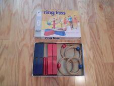 VINTAGE 1969 Milton Bradley RING TOSS GAME w/ WOOD PIECES & BOX Outdoor FUN