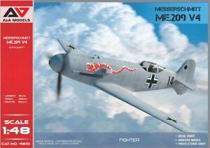 A&A Models 1/48 MESSERSCHMITT Me-209 V4 German WWII Fighter