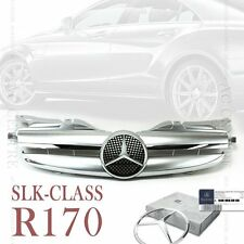 Shin Silver Front Mesh Grill for Mercedes Benz SLK Class R170 W170 AMG 1998-2004