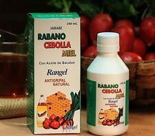 Rabano Cebolla y Miel Jarabe 240 ML - Natural Anti-flu - Productos Rangel