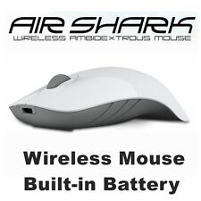 Wireless Mouse MorroLogic PC USB Quality Mobile Built-in Battery Mice White-Grey