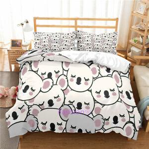 Koala Baby Doona Quilt Duvet Cover Set Single/Double/Queen/King Bed Pillowcase