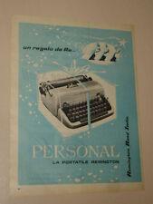 REMINGTON RAND MACCHINA DA SCRIVERE=ANNI '50=PUBBLICITA=ADVERTISING=WERBUNG=358