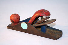"""Vintage Small Red and Blue 110 Metal Woodworking Plane  6.5"""""""
