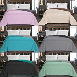 Luxus Bettüberwurf Axel Wendedecke Tagesdecke Doppelbett Bettgarnitur Steppdecke