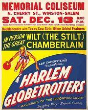 Vintage Antique Rare  POSTER  1970's  Harlem Globetrotters  Basketball Show