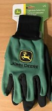 John Deere Work Gloves - Light Duty Cotton Grip Gardening 1 Pair Size Large