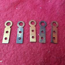 Five Brass Clock Wall Hangers