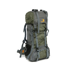 60L Outdoor Camping Hiking Climbing Large Bag Internal Frame Pack Backpack Green